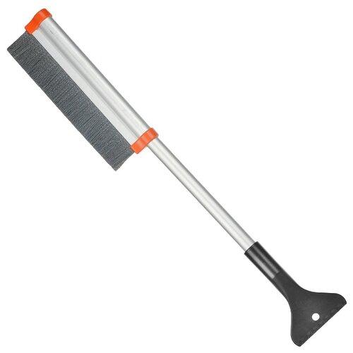 Телескопическая щетка-скребок Stels 55311 серебристый/серый/оранжевый