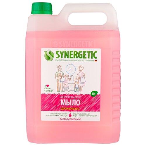 Мыло жидкое Synergetic биоразлагаемое Аромамагия, 5 л, 5 кг фото