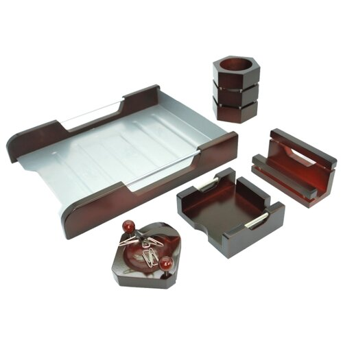 Канцелярский набор Galant Wood&Metal (230873) 5 пр. красное деревоОфисные наборы<br>