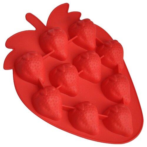 Форма для десерта Regent Клубничка, 10 ячеек красный