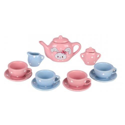 Купить Набор посуды Mary Poppins Зайка 453167 розовый/голубой, Игрушечная еда и посуда