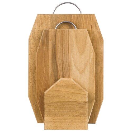 Комплект из 2 - х досок 39,5*24,5*1,4 см и 33*19,5*1,4 см ромб с метал. руч., на деревянной подстав.