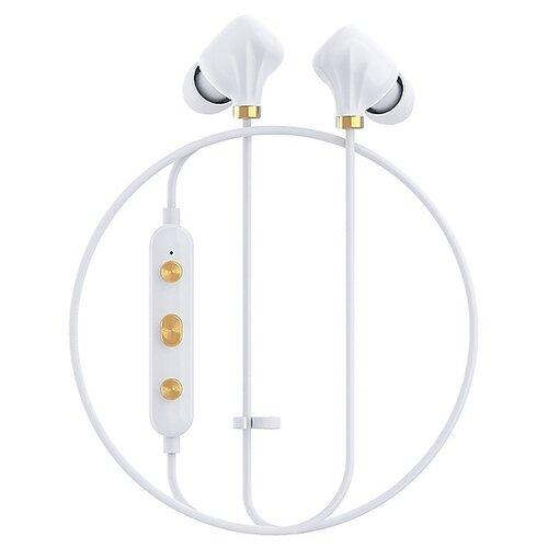 Беспроводные наушники Happy Plugs Ear Piece II white/gold  - купить со скидкой