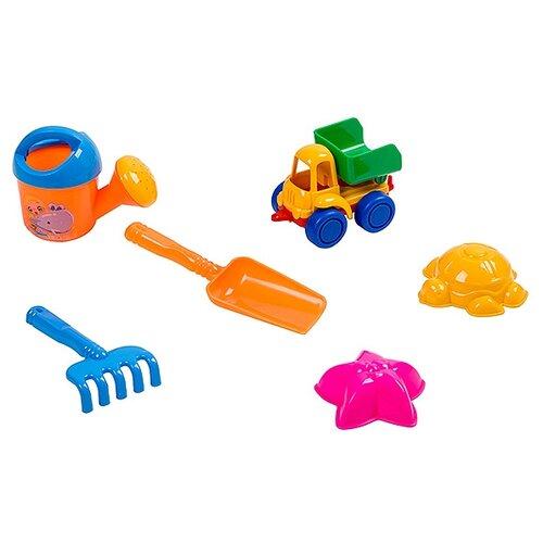 Купить Набор Нордпласт 431755 №48 голубой/оранжевый/желтый/зеленый, Наборы в песочницу