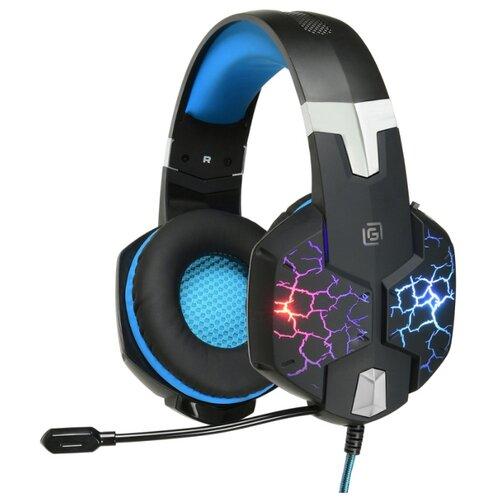 Наушники с микрофоном Oklick HS-L930G SNORTER черный/синий 2м мониторные USB (HS-L930G) игровая гарнитура oklick hs l930g snorter черный синий hs l930g