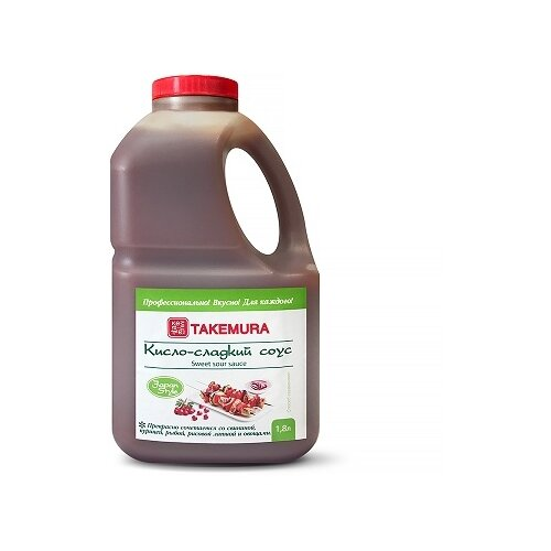 Соус Takemura Кисло-сладкий Premium, 1.8 л соус takemura кимчи 215 мл