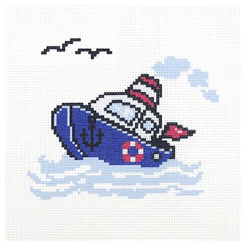 Hobby & Pro Набор для вышивания По волнам 22 х 22 см (ПК-171)