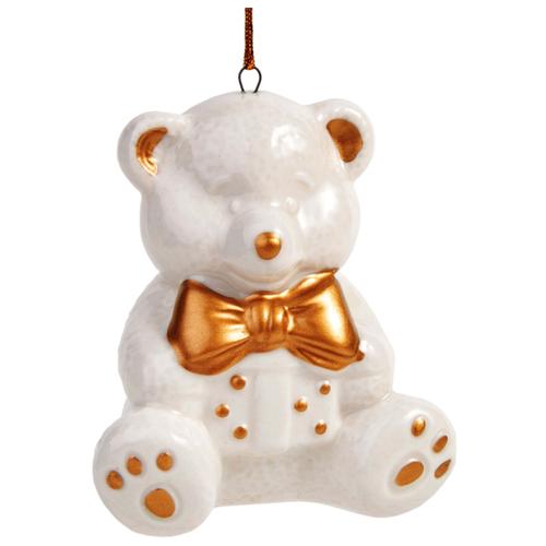Елочная игрушка Magic Time Мишка (78524) белый/золотой