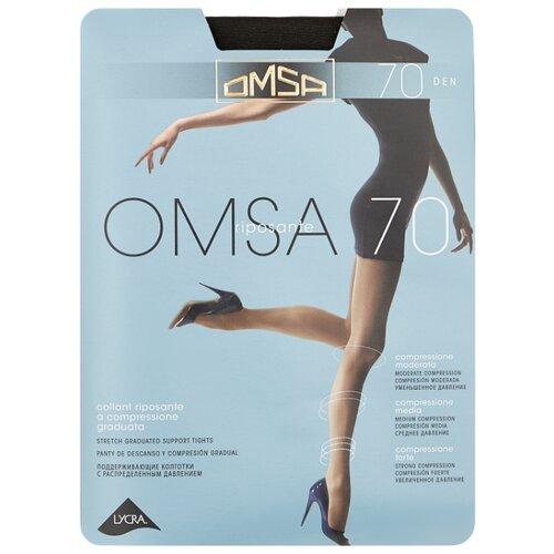 Колготки Omsa Omsa 70 den, размер 2-S, fumo (серый) колготки omsa omsa 70 den размер 2 s fumo серый