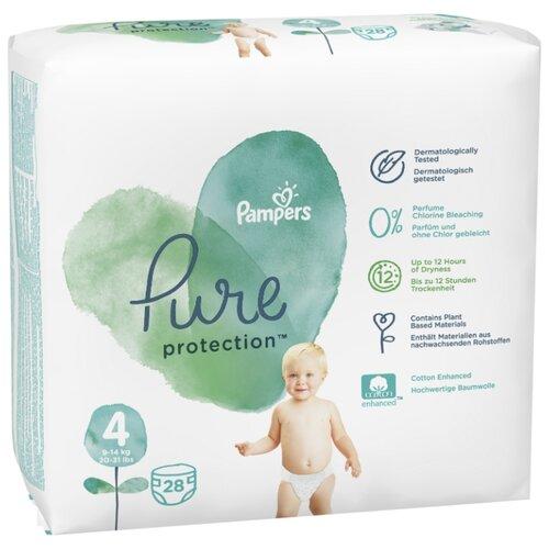 Pampers подгузники Pure Protection 4 (9-14 кг) 28 шт.