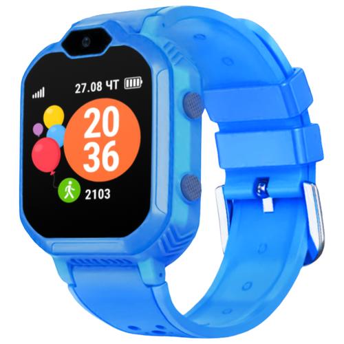 Детские умные часы c GPS GEOZON 4G синий детские умные часы c gps geozon active розовый