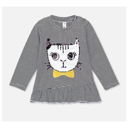 Купить Лонгслив playToday размер 74, темно-серый/черный/серый, Футболки и рубашки