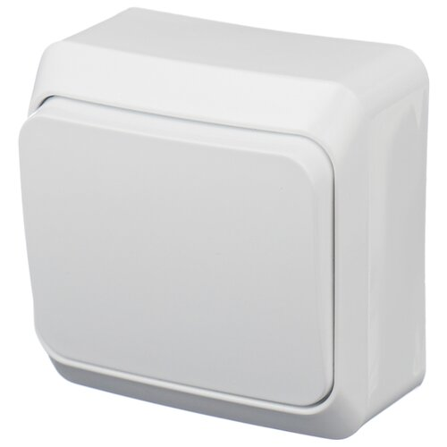 Выключатель 1-полюсный Schneider Electric ЭТЮД BA10-001B,10А, белый schneider двухклавишный выключатель этюд белый