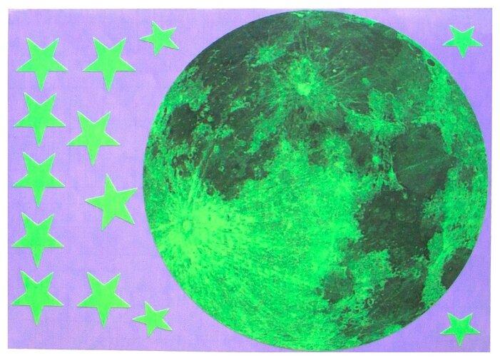 Наклейка Freeze Light Луна и звезды, светящаяся