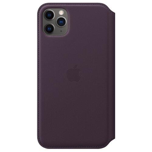 Чехол Apple Folio кожаный для Apple iPhone 11 Pro Max спелый баклажан  - купить со скидкой