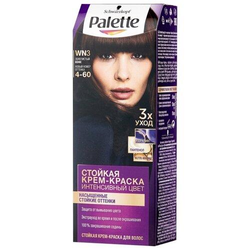 Palette Интенсивный цвет Стойкая крем-краска для волос, WN3 4-60 Золотистый кофе