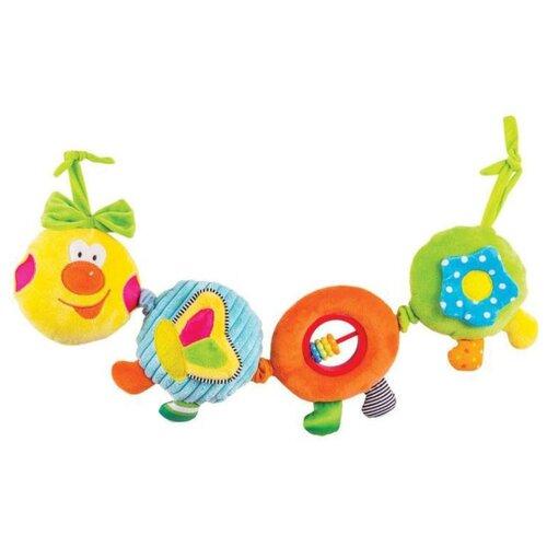 Растяжка Happy Snail Веселая гусеница Камилла (14HS003PG) желтый/зеленый/оранжевый кресло складное happy camper цвет желтый оранжевый