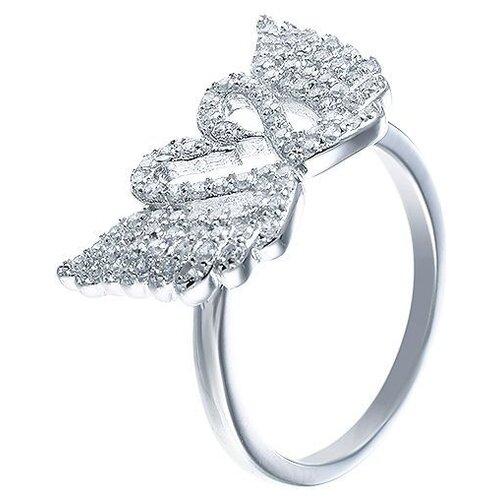 JV Кольцо с фианитами из серебра SY-355637-R-KO-002-WG, размер 16 jv кольцо с стеклом и фианитами из серебра sy 356989 r ko 002 wg размер 16 5