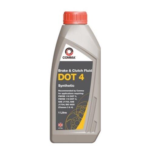 Тормозная жидкость Comma DOT4 (BF41L) 1 л comma платье