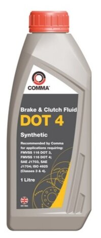 Тормозная жидкость Comma DOT4 (BF41L) 1 л