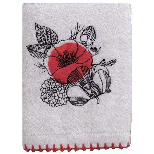 Аллегро полотенце Мальва для лица 50х70 см красный