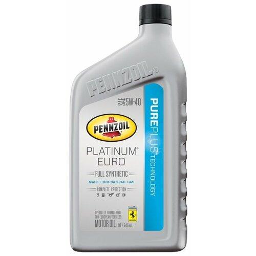 Фото - Моторное масло Pennzoil Platinum Euro SAE 5W-40 0.946 л моторное масло pennzoil gold synthetic blend sae 5w 30 0 946 л