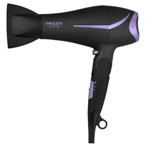 Фен DELTA LUX DL-0940, черный/фиолетовый фен delta lux dl 0940 черный фиолетовый