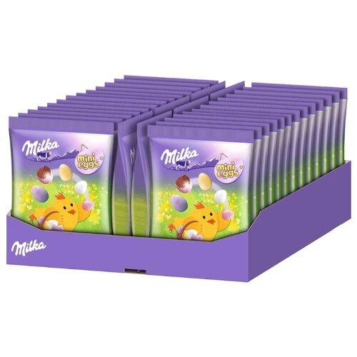 Фигурный шоколад Milka Mini Eggs молочный в форме яйца в сахарной глазури (24 шт.) фигурный шоколад milka mini eggs молочный в форме яйца в сахарной глазури 24 шт