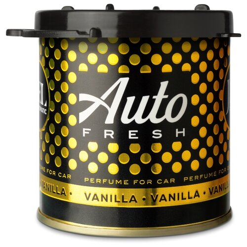 Auto Fresh Ароматизатор для автомобиля Jel Vanilla 80 мл гелевый ароматизатор для автомобиля vanilla cupcake