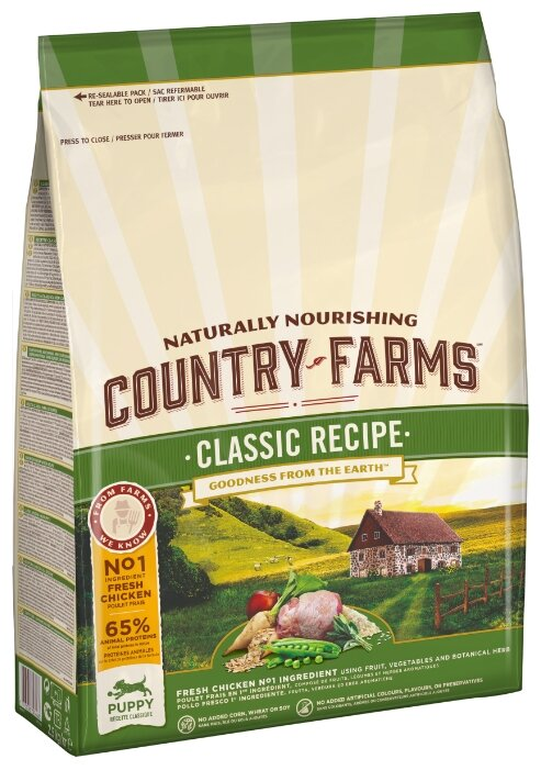 Корм для собак Country Farms курица