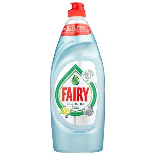 Fairy Средство для мытья посуды Platinum Лимон и лайм 0.65 л средство для мытья посуды fairy сочный лимон 5 л