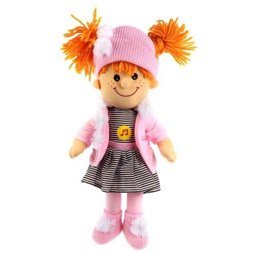 Купить Мягкая игрушка Мульти-Пульти Куколка в шапочке с косичками озвученная 35 см, Мягкие игрушки