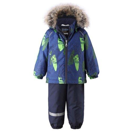 Купить Комплект с брюками Lassie Karol 713733-6911 размер 98, синий, Комплекты верхней одежды
