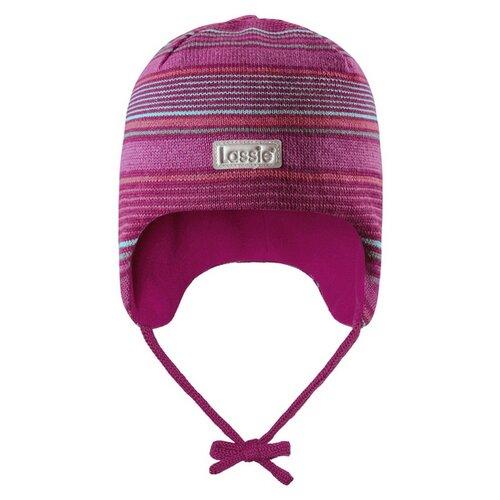 Купить Шапка Lassie размер S/003, розовый с полосками, Головные уборы