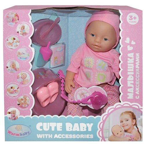 Фото - Интерактивный пупс Warm baby, 40 см, JB700344 интерактивный пупс baby doll