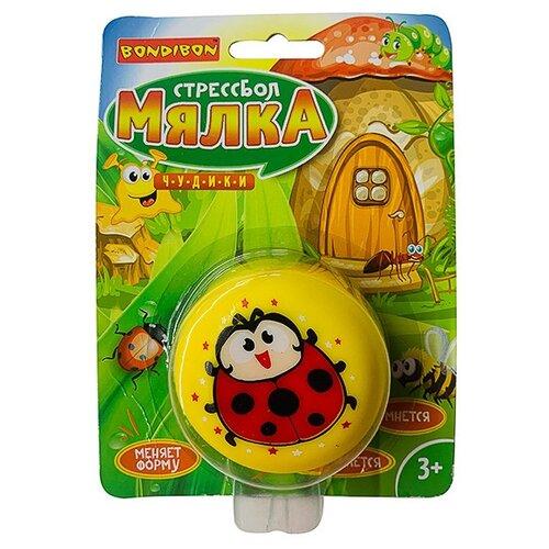 Игрушка-мялка BONDIBON Чудики: Божья коровка ВВ3576 желтый