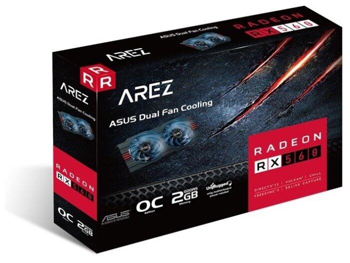 Видеокарта ASUS AREZ Radeon RX 560 1149MHz PCI-E 3.0 2048MB 6000MHz 128 bit DVI HDMI DisplayPort HDC