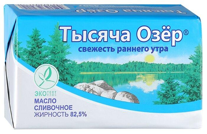 Тысяча Озёр Масло сливочное несоленое 82.5%, 450 г