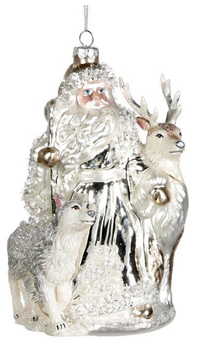 Goodwill, Ёлочная игрушка санта С оленем И волком, стекло, 17 см TR 24740