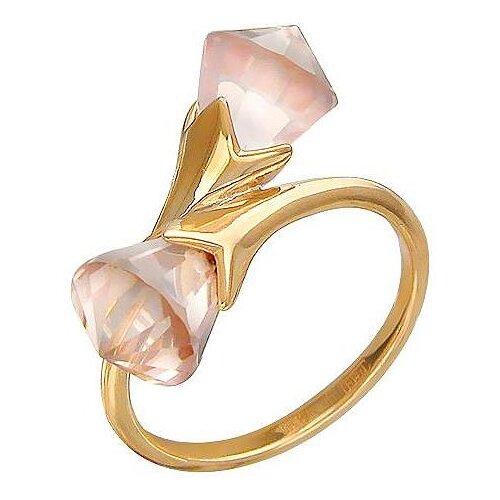 Эстет Кольцо с 2 кварцами из красного золота 01К317889-2, размер 18 эстет кольцо с 2 аметистами из красного золота 01к317889 1 размер 16 5
