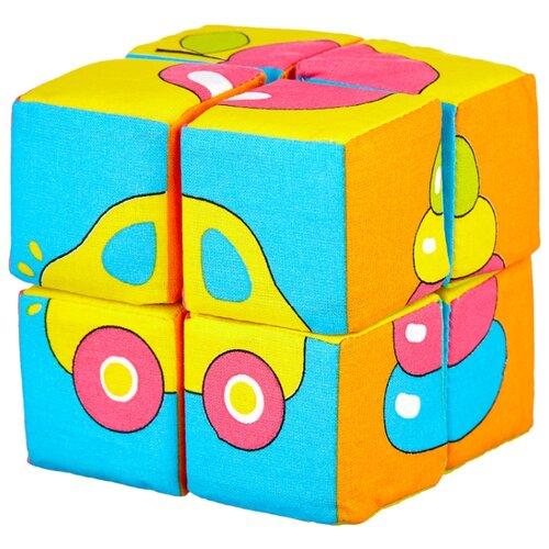 Кубики-пазлы Мякиши Собери картинку Предметы мякиши игрушка собери картинку ягоды фрукты овощи