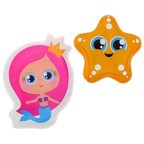 Купить Набор для ванной Крошка Я Звёздочка и русалочка (3045309) желтый/розовый, Игрушки для ванной
