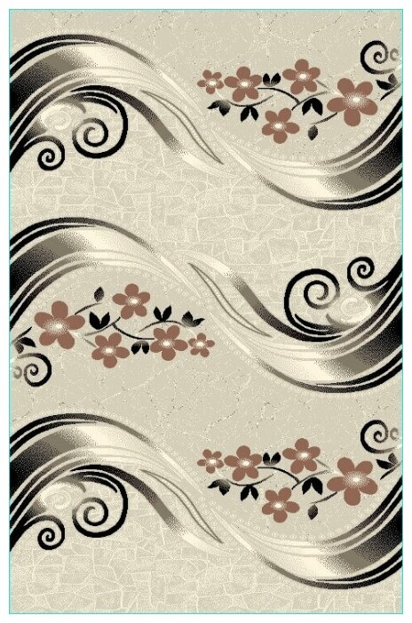 Ковер Люберецкие ковры с цветами КАШЕМИР 50116-55