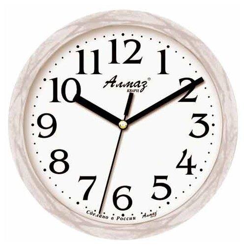 Часы настенные кварцевые Алмаз E66 серый часы настенные кварцевые алмаз e66 серый