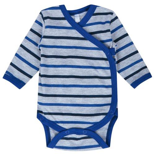 Купить Боди Leader Kids размер 68, серый/синий
