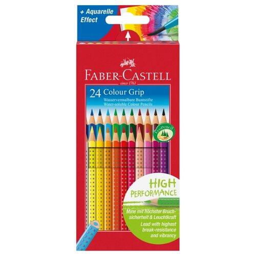 Faber-Castell Цветные карандаши Grip 24 цвета (112424) faber castell цветные карандаши faber castell jumbo grip metallic 5 цветов