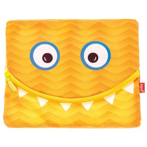 пеналы zipit пенал colorz box ZIPIT Папка-пенал на молнии Googly Smile для тетрадей и канцелярии оранжевый