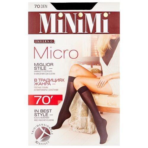 Капроновые гольфы MiNiMi Micro 70 den, размер 0 (one size), nero