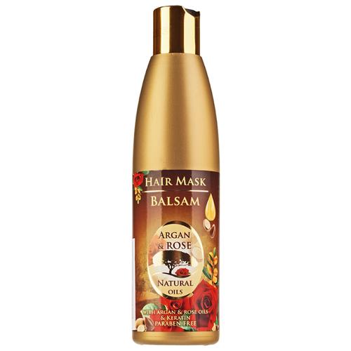 BulFresh Cosmetics Бальзам-маска для волос Argan & Rose, 250 мл маска для волос 200 мл halal cosmetics 8 марта женщинам