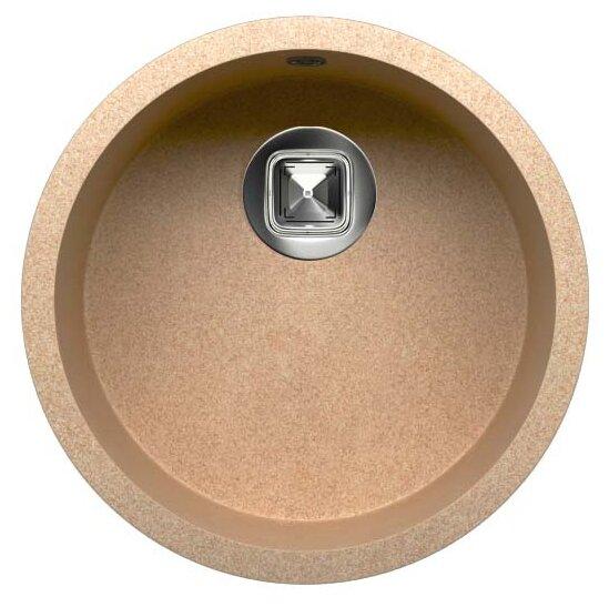 Врезная кухонная мойка Tolero R-104 43.5х43.5см кварцевый искусственный камень